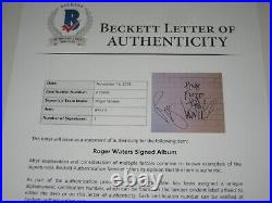 ROGER WATERS Signed Pink Floyd THE WALL LP ALBUM COVER with Beckett LOA