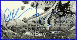 Radiohead (5) Signed A Moon Shaped Pool Album Cover With Vinyl PSA/DNA #AB10731
