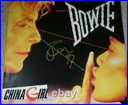 Rare David Bowie 1997 China Girl Signed Album Cover