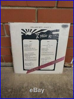 Rare vintage A NEW HI LP! Cover and Poster only! NO ALBUM! Stevie Ray Vaughan