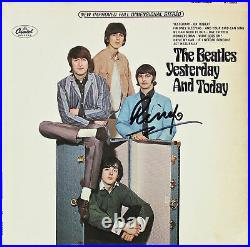 Ringo Starr Beatles Signed Yesterday & Today Album Cover With Vinyl BAS #A70463