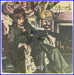 Rod Stewart, Ronnie Wood & Ronnie Lane Signed Album Cover With Vinyl BAS #A57639