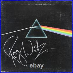Roger Waters Pink Floyd Signed Dark Side Of The Moon Album Cover JSA #Z69655
