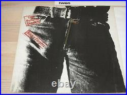Rolling Stones LP Sticky Fingers/Pan Zipper Cover German 59100 IN Good+