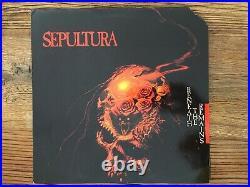 SEPULTURA Beneath The Remains LP 1989 Vinyl in Mint-Condition, Cover Promo-Cu