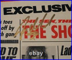 SLASH & STEVEN ADLER signed GUNS N ROSES LIES VINYL ALBUM COVER LP PROOF COA
