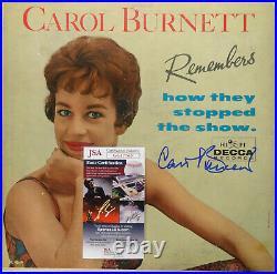 Signed Carol Burnett Autographed Lp Album Cover Certified Jsa # Gg17763