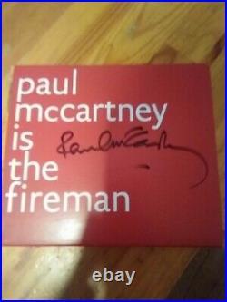 Signed Paul McCartney The Fireman Electric Arguments Autograph CD Album Cover