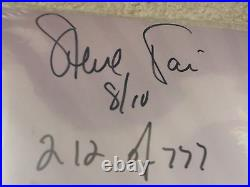 Steve Vai Signed & Numbered Album Cover