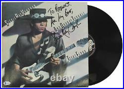 Stevie Ray Vaughan All My Best Signed Texas Flood Album Cover With Vinyl BAS