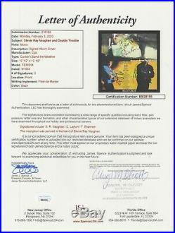 Stevie Ray Vaughan & Double Trouble Signed & Inscribed Album Cover Jsa Letter
