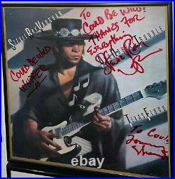 Stevie Ray Vaughan Signed X 3 Texas Flood Album Cover With Vinyl Could Be Wild