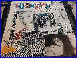THE BANGLES signed Different Light album cover Hoffs, Petersons, Steele