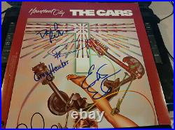 THE CARS signed Heartbeat City album cover Ocasek, Hawkes, Robinson, Easton