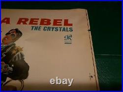 THE CRYSTALS Orig 62 Album Cover Art Slick PHILLES 4001 HES A REBEL Phil Spector