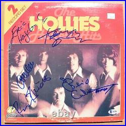 THE HOLLIES autographed signed HOTTEST HITS record album cover BAS Auth