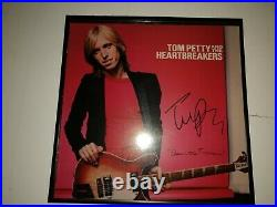 TOM PETTY Signed DAMN THE TORPEDOES LP ALBUM COVER COA