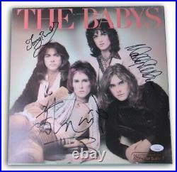 The Babys Band Autographed Record Album Cover Waite Brock Stocker JSA FF06295