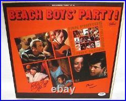 The Beach Boys Signed'party' Album Cover Brian Wilson & Mike Love Psa/dna Coa