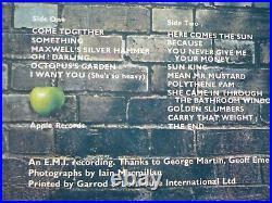 The Beatles Abbey Road Vinyl UK 1969 Apple 1st Press 2/1 LP Drain Cover Aligned