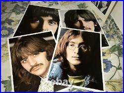 The Beatles White Album 1968 US Numbered Cover Photo Inserts No Poster (GI)