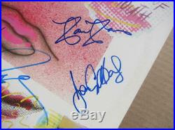The Kinks 4x signed LP Album Cover Word of Mouth BAS Beckett Davies