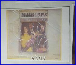 The Mamas and the Papas John Mama Michelle Dennis Signed Album Cover Framed COA