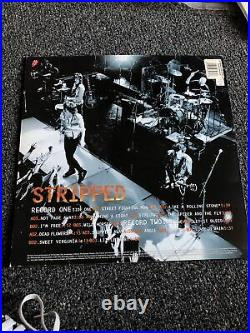The Rolling Stones Stripped 1995 SIGNED ALBUM COVER ONLY NO RECORD