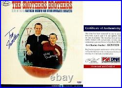 The Smothers Brothers Signed LP Record Autographed Album Cover PSA/DNA COA