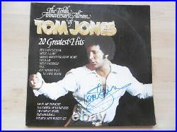 Tom Jones signed LP-Cover The Tenth Anniversaire Album of Tom Jones Vinyl