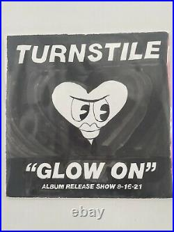 Turnstile Glow On (Limited Edition Of 40) Album Release Show Hand Made Cover