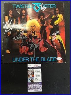 Twisted Sister Under The Blade Signed Autographed Album Cover Jsa Coa