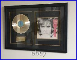 U2 Collectible Art War Album Gold Record & Cover autographed by ENTIRE band