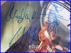 Van Halen 4x signed LP Album Cover 5150 PSA/DNA Eddie Sammy Hagar Michael Anthon