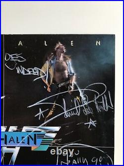 Van Halen fully autographed debut vinyl album cover signed