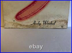 Velvet Underground & Nico Andy Warhol 1st Banana Cover LP Album 1967 Verve VG