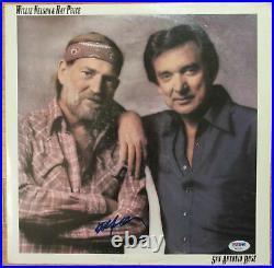 Willie Nelson Signed Album Cover San Antonio Rose PSA DNA